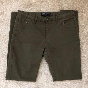 Zara Z1975 Army Green Denim Jeans